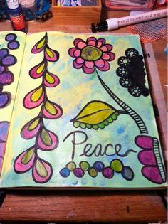 A Southern Lady's Ramblings: A Peek inside my Art Journal