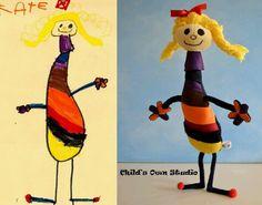 Desenhos e bonecas