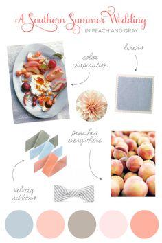 Peach wedding ideas from Southern Weddings.