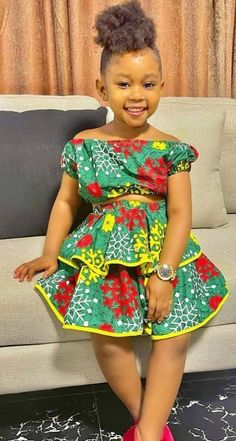 African Dresses For Kids, African Maxi Dresses, Latest African Fashion Dresses, African Print Fashion, African Attire, Kids Pageant Dresses, Dresses Kids Girl, Little Girl Outfits, Girls