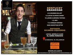 Kentucky Granddad: Receta presentada por Ricardo Izquierdo para la competición de coctelería #WorldClass2015 con Bulleit Bourbon Whisky. Podrás probarla en calle La esgueva, 16, Valladolid