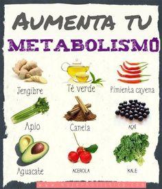 Aquí tienes alimentos que te ayudarán a acelerar tu metabolismo. OJO, recuerda que debes consumirlos como parte de un plan de dieta balanceado y nunca exceder su consumo. www.mujerholistica.com