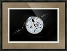 "Breguet Moonphase Triple Calendar Swiss Watch // Paper: enhanced matte; Glazing: acrylic; Moulding: black, belmont dark olive; Top Mat: black/gray, dusk; Middle Mat: white/cream, canvas; Bottom Mat: black/gray, granite // Price starts at $202 (Petite: 19"" x 22""). // Customize at http://www.imagekind.com/Breguet-Moonphase-Triple-Calendar-Swiss-Timepiece_art?IMID=60cf7cc5-000e-433f-9585-738260b6974f"