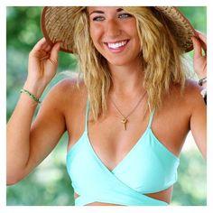 Totally in love with @jaclynmh27  || she is wearing our Seafoam Set! || #ocean #beach #bikini #miami #surf #seafoam #green #soflo
