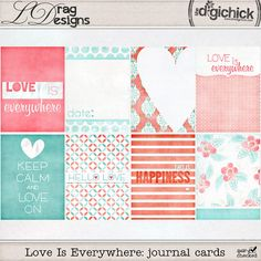 Love Is Everywhere: Journal Cards by LDrag Designs