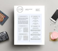 Minimal Resume Template | CV Design by This Paper Fox on @creativemarket