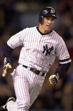 heart of a warrior. One of my favorite Yankees. So happy u got in Monument Park! U deserve it! Damn Yankees, New York Yankees Baseball, Yankees Fan, Baseball Bats, Baseball Uniforms, Baseball Players, Mlb Players, Baseball Jerseys, Mlb Teams