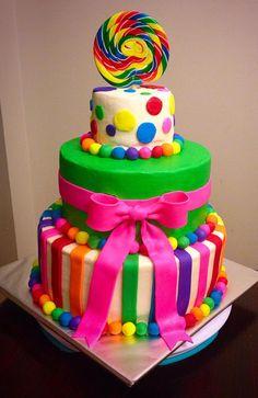Modern Candy Land Cake