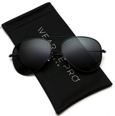 7914efd4b02e WearMe Pro - Polarized Metal Frame Pilot Style Aviator Sunglasses