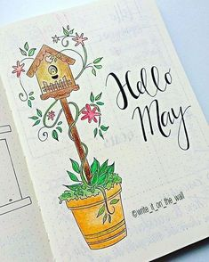 Bullet journal - spring/printemps may/mai month journal pages, journal covers, Bullet Journal 2019, Bullet Journal Inspiration, Journal Covers, Journal Pages, Journals, Bullet Journal Calendrier, Bullet Journel, Doodles, Journal Layout