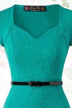 Elizabeth Sweetheart Wiggle Dress in Jade Green : Lindy Bop Elizabeth Jade Green Dress 100 40 15931 20150610 Jade Green Dress, Green Dress Casual, Blue Green, Cute Dresses, Casual Dresses, Fashion Dresses, Dress Sewing Patterns, Clothing Patterns, Wiggle Dress