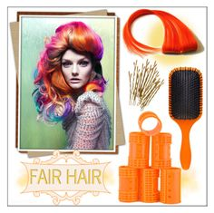 """""""Fair Hair!"""" by whirlypath ❤ liked on Polyvore featuring beauty and Denman"""