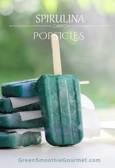 Blue Spirulina Popsicles. Popsicle week people!! It's coming!!! And here we have blue pops. No photoshop trick of course, as anyone in the healthy food world can guess, these pops are blue with health, Spirulina health. Spirulina, a blue-green algae, is a strong source of protein and holds 22 essential amino acids. Still, as with …