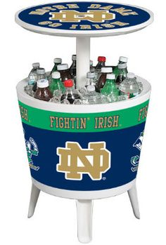 University of Notre Dame Fighting Irish Cooler Table