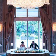 Alexandra and Steven Howard chose the ornate Pedro Leitão Ballroom for their reception – a grand space made intimate for their 43-person wedding reception.