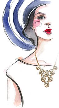 """""""baubles & drawings""""  I'm following Paper Fashion for quite a while now. I think I followed the blog for almost 3 years! It really inspired me and is still inspiring me to keep my illustration dream going. Because of these drawings I've never given up on illustrating fashion @BaubleBar @Katie Hrubec Schmeltzer Rodgers #BBXPF"""