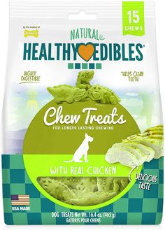 Dog Training Chewing Style: Chicken |Product Packaging: Standard Packaging These delicious longer-lasting natural dog chews come in three fun dino shapes making them a special entertaining snack for dogs. These wholesome and healthy edible dog treats with the irresistible flavor of chicken keeps dogs happy busy and satisfied. Healthy Edibles Dog Treats are a tasty chicken-flavored snack that your best friend...-- Continue to the product at the image link. (This is an affiliate link)…