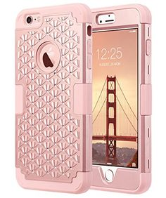 Berry Accessory iPhone 8 Case,iPhone 7 Case,Heavy Duty Protective Cover Dual Layer Hybrid Shockproof Protective Case with Kickstand Hard Phone Case Cover for iPhone 7//8 Hot Pink 4.7 Inch