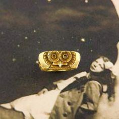 Vintage Tiffany & Co. owl ring