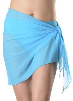 001: Short Mesh Sarong O/S - Turquoise - http://beachcoverupsarongs.com/product/short-sarongs/short-mesh-sarong/