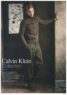 Jeremy Dufour Dons Calvin Klein Collection Fall 2014 Fashions for Loaded Magazine image Jeremy Dufour Loaded Calvin Klein Collection Mens Fall Winter 2014 004