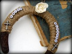Altered Art Horseshoe by CalamityVintage on Etsy, $15.00