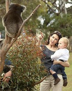 Australian-born Crown Princess Mary of Denmark and her son Prince Christian visit Bonorong Park Wildlife Centre at Brighton, near Hobart in ...