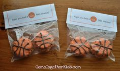 Basketball Rice Krispie Treats ~ So doing this next time he plays basketball! Or any other sport I could decorate it for!