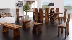 Mesas de comedor de madera SUWAR. Decoración Beltrán, tu tienda online en mesas coloniales de madera. www.decoracionbeltran.com