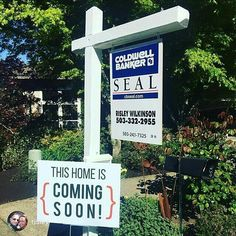 Our coming soon signs are one of our best sellers. Realtors, what are the rules on marketing  Coming Soon in your city? Repost from @risley More signs in the ground!! I ❤️ spring ☀️