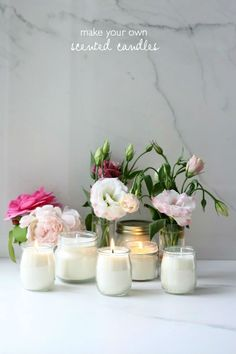 make your own scented candles
