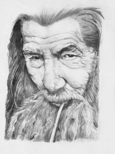 The Hobbit - Gandalf Portrait by Ori-Clayfoot on DeviantArt