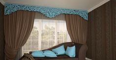 Whatever the room, almost each has windows that require decoration. The most affordable and attractive decor option is curtains design. Living Room Modern, Living Room Interior, Living Room Designs, Types Of Curtains, Cool Curtains, Room Furniture Design, Living Room Furniture, Pop Design For Hall, Classic Curtains