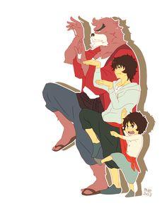 The Boy and the Beast #Kumatetsu #Kyuta (by mum)