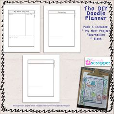DIY Art Journal Planner  free download pages