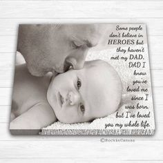 Father's Day Gift Daddy and me Daddy gift from son by RockinCanvas