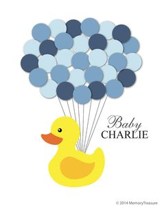 Baby Shower Guest Book Alternative Rubber Duck by MemoryTreasure