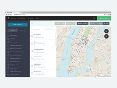Live implementation of the brand new CompStak's map UI experience. Map Design, Book Design, App Design Inspiration, Ui Web, Application Design, Dashboard Design, Mobile App Design, User Interface Design, Animation