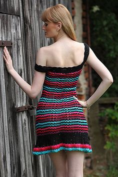 Ravelry's FashionMartina has many great crochet dress designs for women. She's especially good at doing striped crochet designs. I especially like this one, which is called Magic Girl.