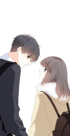Anime Couples Drawings, Anime Couples Manga, Cute Anime Couples, Anime Manga, Anime Guys, Cute Couple Comics, Cute Couple Cartoon, Cute Couple Art, Anime Love Couple