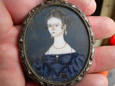 EARLY 19th C AMERICAN MINIATURE PORTRAIT PAINTING