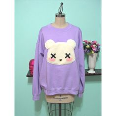 Pastel Goth Kawaii Grunge Deaddy Bear - Dead Teddy Bear Oversized... (61 AUD) ❤ liked on Polyvore featuring tops, hoodies, sweatshirts, sweaters, shirts, pastel goth, teddy bear sweatshirt, pastel goth sweatshirt, pastel shirts and grunge shirts   Stupefying approach