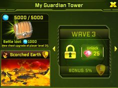 7. Don't forget to unlock all the waves you can! Make things difficult for your attackers!