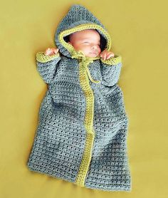Ravelry: Baby Bunting pattern by Sandy Powers Inside Crochet, Issue 38, February 2013