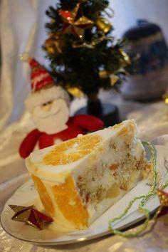 Amatorii torturilor cu jeleu vor fi încântați! INGREDIENTE: Pentru pandișpan: -3 ouă; -½ pahar de zahăr; -o linguriță de bicarbonat de sodiu; -un pahar de făină (200 g). Vezi: Masurarea ingredientelor Pentru umplutură: -3 portocale; -3 mandarine; -150 g de ananas; -150 g de banane (una mică). Pentru crema-jeleu: -50 g de gelatină; -un plic de vanilină; -900 g de smântână 10%; -un pahar de zahăr. MOD DE PREPARARE: 1.Dizolvați gelatina în apă, în conformitate cu instrucțiunile de pe ambalaj…
