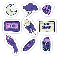 """The post """"Grunge Aesthetic Purple Stickers, Galaxy"""" appeared first on Pink Unicorn Purple Stickers Kawaii, Phone Stickers, Journal Stickers, Cool Stickers, Printable Stickers, Purple Aesthetic, Aesthetic Galaxy, Aesthetic Stickers, Aesthetic Shirts"""