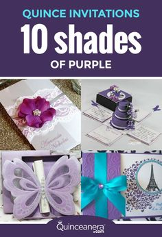 Invite your guests in luxury with the following Quince invitations. We promise these shades won't disappoint! - See more at: http://www.quinceanera.com/invitations/10-shades-purple-quince-invitations/?utm_source=pinterest&utm_medium=social&utm_campaign=article-011616-invitations-10-shades-purple-quince-invitations#sthash.ACXWwDTM.dpuf
