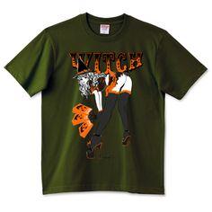 彼女は WITCH ハロウィン・ウィッチ 可憐座   デザインTシャツ通販 T-SHIRTS TRINITY(Tシャツトリニティ)