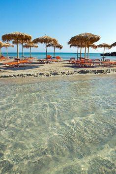 Elafonissi beach in Chania, Crete.
