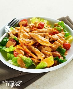 Salade thaïe éclair au poulet #recette